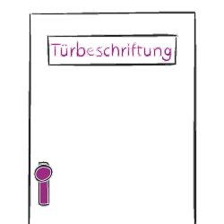 Türschild, Türbeschriftung
