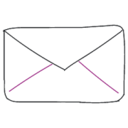 Bedruckte Briefumschläge in verschiedenen Formaten