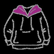 Hoodie Kapuzenpullover Textildruck