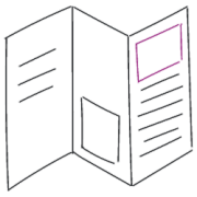 Serienbriefe, Rundschreiben und Faltblatt oder Faltblätter